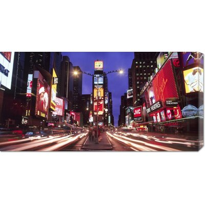 Global Gallery 'Times Square at Night' by Paul Hardy Stretched Canvas Art