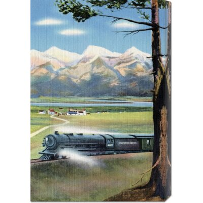 Global Gallery 'Northern Pacific Scenic Route' by Retro Travel Stretched Canvas Art