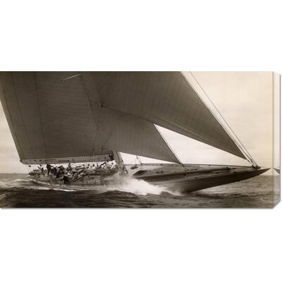 'J Class Sailboat, 1934' by Edwin Levick Stretched Canvas Art
