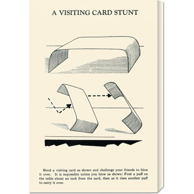 Global Gallery 'A Visiting Card Stunt' by Retromagic Stretched Canvas Art