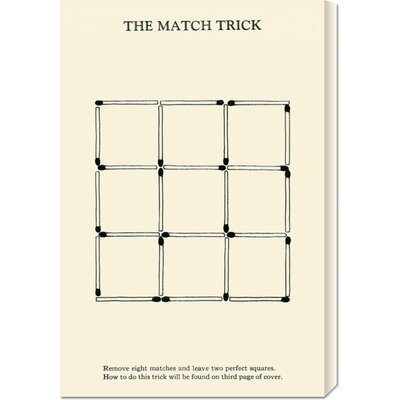 Global Gallery 'The Match Trick - Two Perfect Squares' by Retromagic Stretched Canvas Art