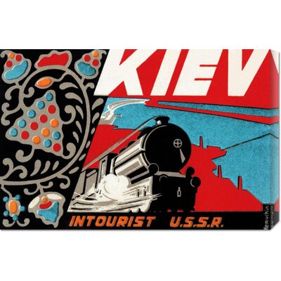 Global Gallery 'Kiev - Intourist U.S.S.R.' by Retro Travel Stretched Canvas Art