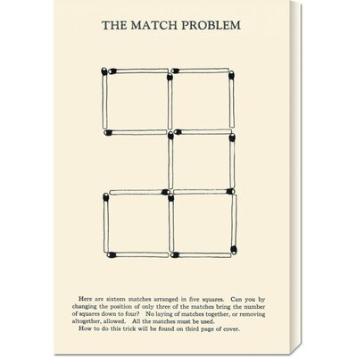 Global Gallery 'The Match Problem' by Retromagic Stretched Canvas Art