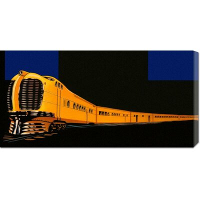 Global Gallery 'Golden Limited' by Retro Travel Stretched Canvas Art