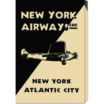 Global Gallery 'New York Airways Inc' by Retro Travel Stretched Canvas Art