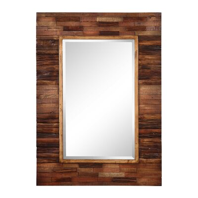 Blakely Wall Mirror in Distressed Natural Wood