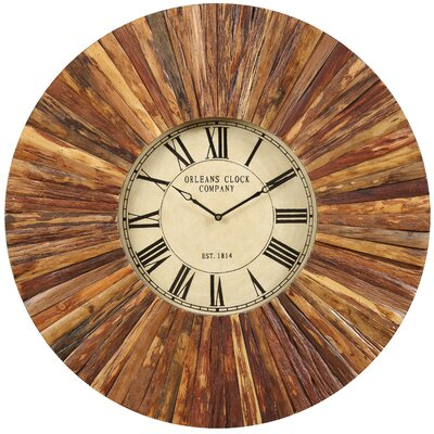 Chatham Wall Clock in Distressed Natural Rustic