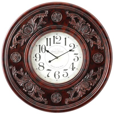 Cooper Classics Paxton Wall Clock in Distressed Aged Merlot