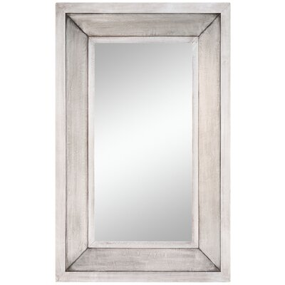 "Cooper Classics 44"" x 28"" Garner Mirror in Distressed Silver"