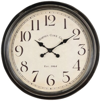Whitley Clock in Distressed Aged Black