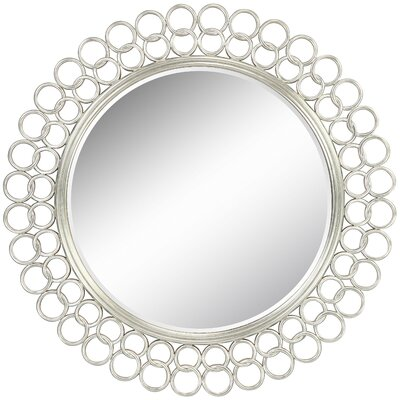 Salina Mirror in Distressed Silver