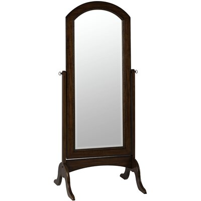 Laurel Cheval Mirror in Distressed Rustic Mahogany