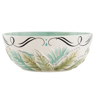 "Fitz and Floyd Cockatoo 11.5"" Serving Bowl"