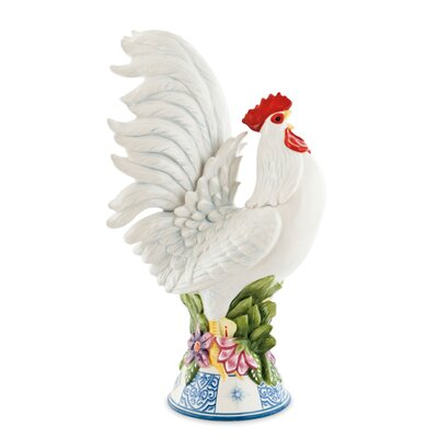 Fitz and Floyd Courtyard Rooster Figurine