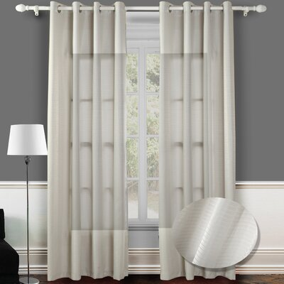 Chic Home Reign Jacquard Grommet Curtain Panel Pair