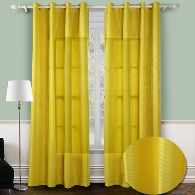 Chic Home Reign Jacquard Grommet Curtain Panel  (Set of 2)