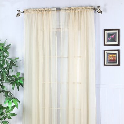 Chic Home Abby Solid Voile Rod Pocket Curtain Panel Pair