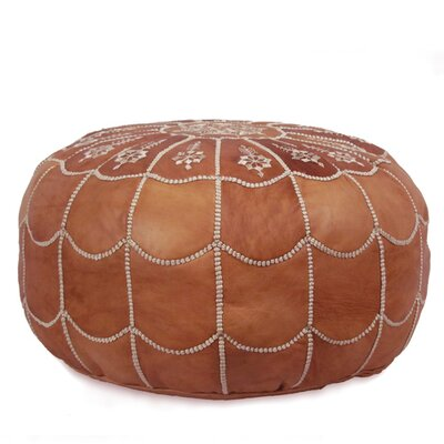 Ikram design moroccan leather pouf ottoman ii reviews wayfair - Design pouf ...