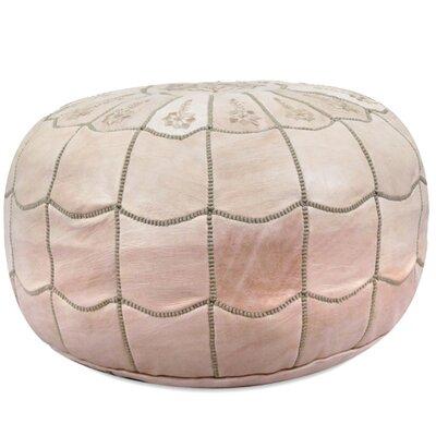 Ikram Design Moroccan Leather Pouf Ottoman