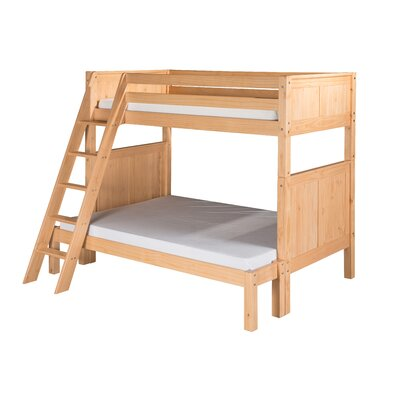 Camaflexi Twin Over Full Bunk Bed with Angle Ladder and Panel Headboard