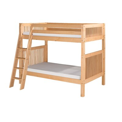 Camaflexi Bunk Bed with Angle Ladder and Mission Headboard