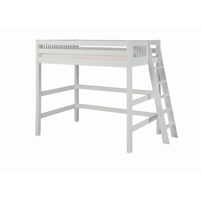 Camaflexi Twin High Loft Bed with Lateral Ladder