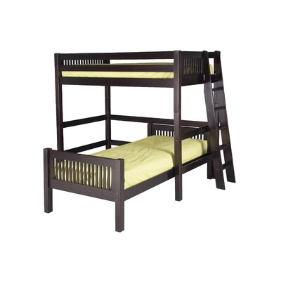 Camaflexi Twin over Twin Loft Bed with Lateral Ladder