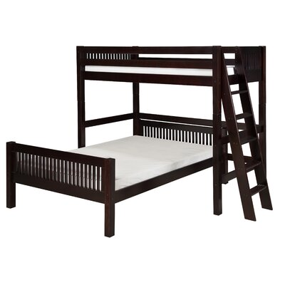 Camaflexi Twin over Full L-Shaped Bunk Bed with Lateral Ladder