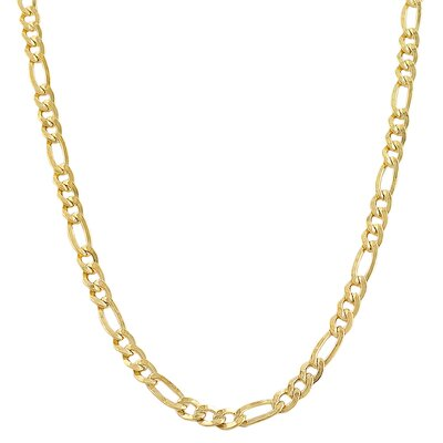 Yellow Gold Filled Figaro Link Chain Necklace