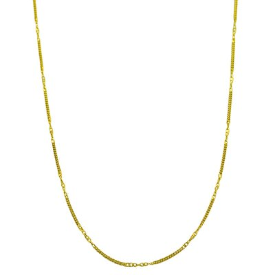 Yellow Gold Curb Chain Necklace