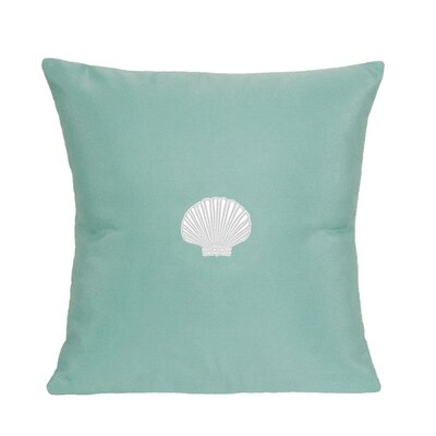 Nantucket Bound Scallop Embroidered Sunbrella Fabric Indoor/Outdoor Pillow
