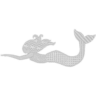 Nantucket Bound Mermaid Sunbrella Fabric Beach Pillow