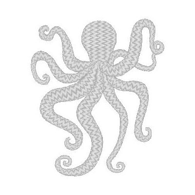Nantucket Bound Octopus Embroidered Sunbrella Fabric Indoor/Outdoor Pillow