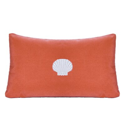 Nantucket Bound Scallop Embroidered Sunbrella Fabric Beach Pillow