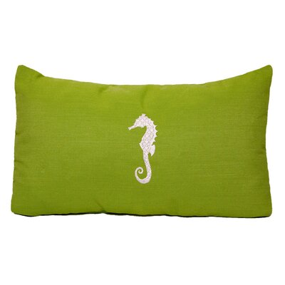 Nantucket Bound Seahorse Embroidered Sunbrella Fabric Beach Pillow