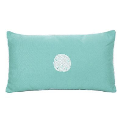 Nantucket Bound Sand Dollar Embroidered Sunbrella Fabric Beach Pillow