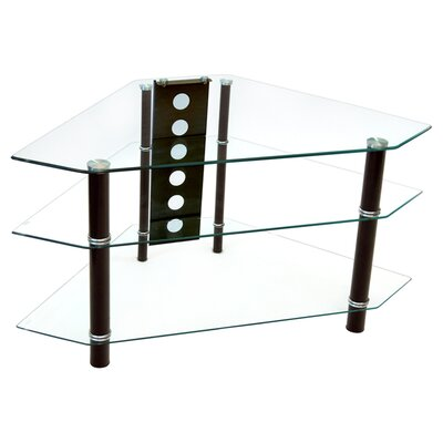 "Home Loft Concept 44"" Glass Corner TV Stand"
