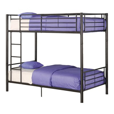 Home Loft Concept Sunrise Twin over Twin Bunk Bed with Built-In Ladder