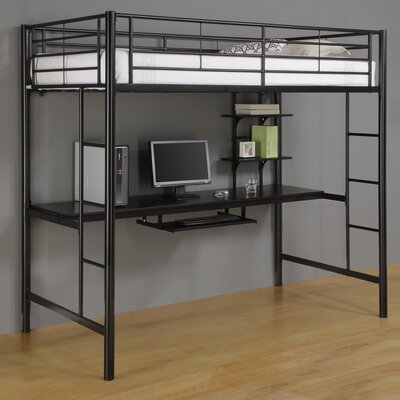 ... Concept Twin Loft Bed and Workstation with Desk and Built-In Ladder