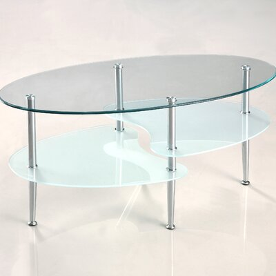 Home Loft Concept Glass Oval Coffee Table