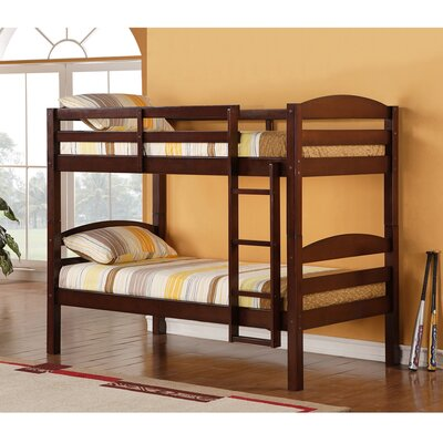 Home Loft Concept Twin Bunk Bed with Built-In Ladder