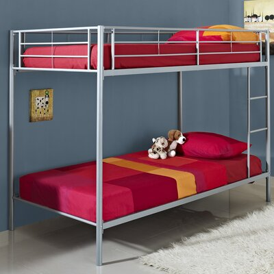 Home Loft Concept Metal Twin over Twin Bunk Bed