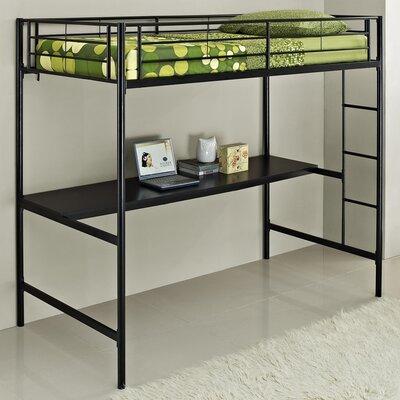 Home loft concept metal twin over workstation bunk bed for Home loft concept bunk bed