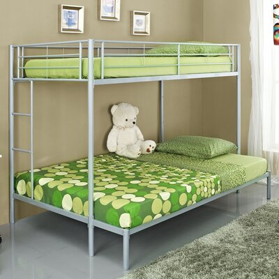 Home Loft Concept Metal Twin over Double Bunk Bed