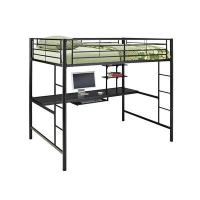 Home Loft Concept Full Loft Bed with Workstation