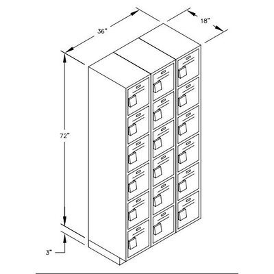 Salsbury Industries Six Tier Box 3 Wide Heavy Duty Locker