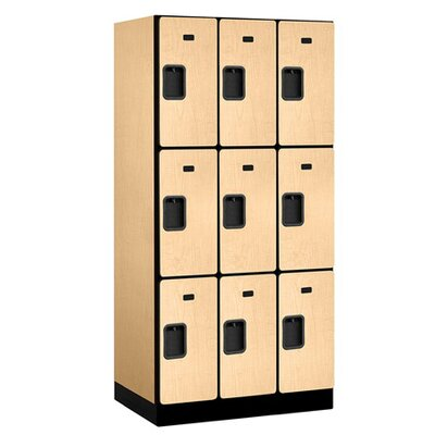 Salsbury Industries Triple Tier 3 Wide Designer Wood Locker