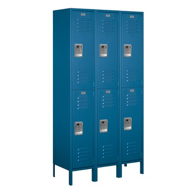 Salsbury Industries Unassembled Double Tier 3 Wide Extra Wide Standard Locker