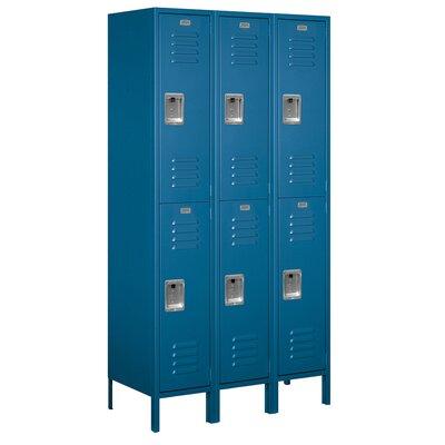 Salsbury Industries Unassembled Double Tier 3 Wide Extra Wide Standard Locker
