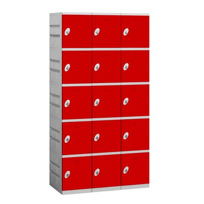 Salsbury Industries Assembled Five Tier 3 Wide Locker